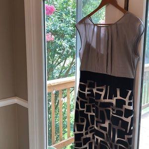 Black and grey patterned (giraffe?) dress